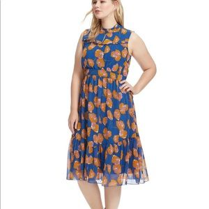 Anthropologie l ModCloth Floral Midi Dress